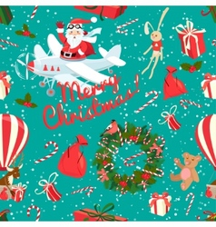 Festive Christmas and New Year seamless pattern in vector image