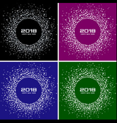 happy new year 2018 card set backgrounds vector image vector image