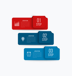 infographics 3 options vector image vector image
