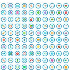 100 loading icons set cartoon style vector image