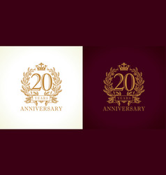 20 anniversary luxury logo vector image