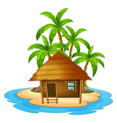 A small house in the island vector image