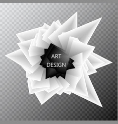 Abstract background template paper geometric vector