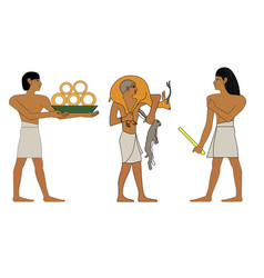 ancient egypt set of group of trader vector image