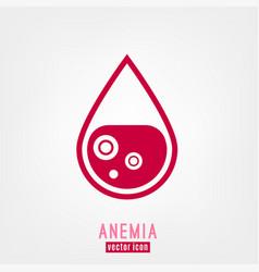 Anemia and hemophilia icon vector