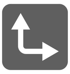 Bifurcation Arrow Right Up Flat Squared vector