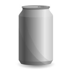 blank aluminium can icon cartoon style vector image