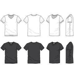 Blank t-shirt vector image
