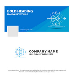 Blue business logo template for performance vector