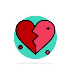 broken love heart wedding abstract circle vector image
