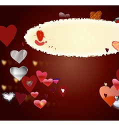 Card by St Valentines Day1 vector image