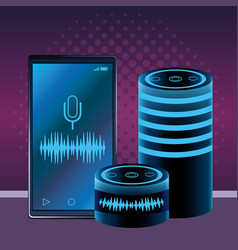 Cellphones and speakers vector