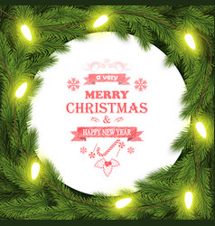 christmas and new year typography background vector image