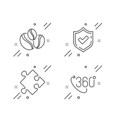 Coffee-berry beans confirmed and strategy icons vector