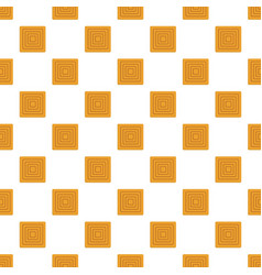 Delicious biscuit pattern seamless vector
