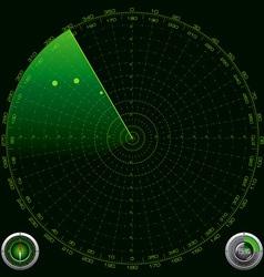 detailed a radar screen vector image