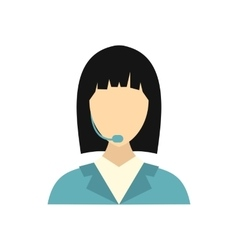 Dispatcher icon in flat style vector image