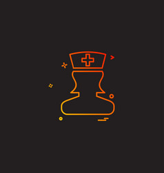 doctor healthcare medical aid nurse icon desige vector image