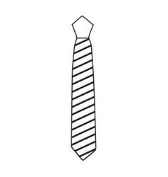 elegant tie isolated icon vector image