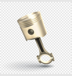 engine piston isolated on transparent background vector image