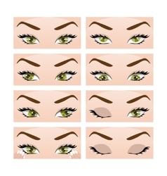 Exercises for eyes vector