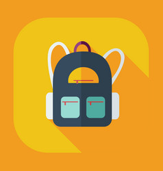Flat modern design with shadow icon backpack vector