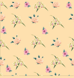 flower background seamless vintage vector image
