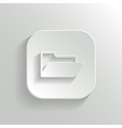 Folder icon - white app button vector image