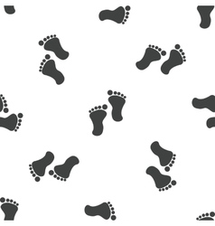 Footprint pattern vector image