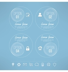 Glassy circles infographic design suitable vector