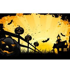 grungy halloween vector image