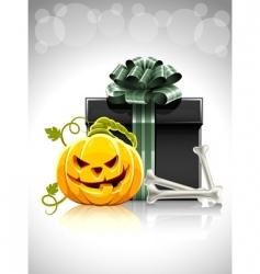 Halloween gift vector image vector image