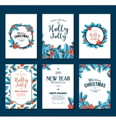 Holly Jolly - Christmas banners set art vector image
