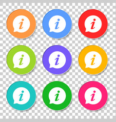 Information icon in flat style isolated on vector