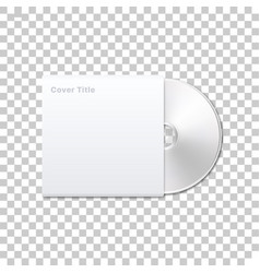 isolated cd disk vector image