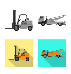 Isolated object of build and construction logo vector