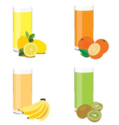 Juice set vector image