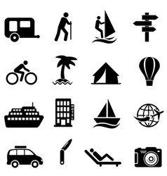 Leisure recreation and outdoor icons vector