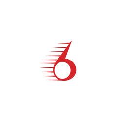 Letter g or number 6 logo red vector