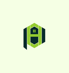 Letter ph home realty creative business logo vector