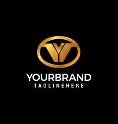 letter v luxury ovals logo design concept template vector image