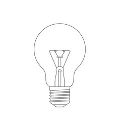 Light bulb sketch vector