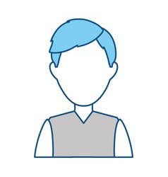 man faceless profile vector image