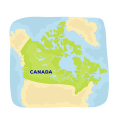 map of canada canada single icon in cartoon style vector image