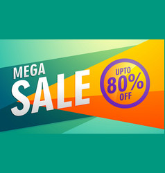 Mega sale stylish modern marketing discount banner vector