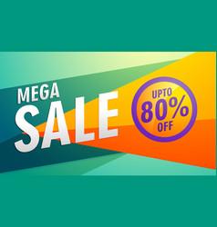 mega sale stylish modern marketing discount banner vector image