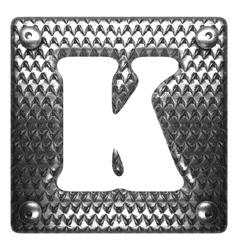 Metal figure k vector