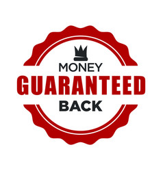 money back guaranteed red stamp template with vector image