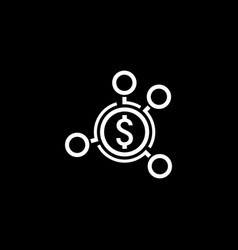 Money distribution icon flat design vector