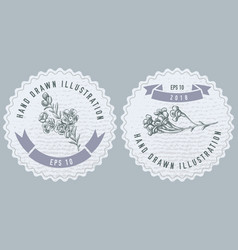 Monochrome labels design with wax vector